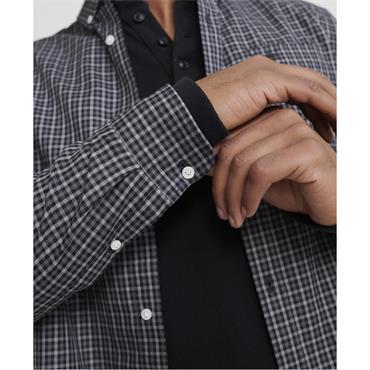 Classic London L/s Shirt - Black Gingham