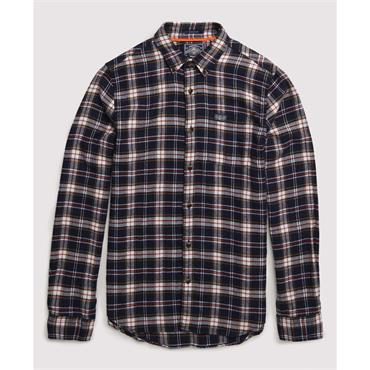 Workwear L/s Shirt - Navy Check