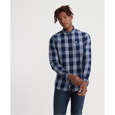 Workwear L/s Shirt - Blue Check