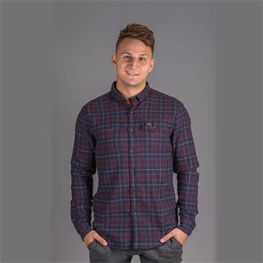 Winter Washbasket Shirt - Switch Blade Burgundy Check