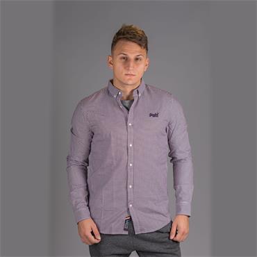 Premium Button Down Shirt - Purple Square Check