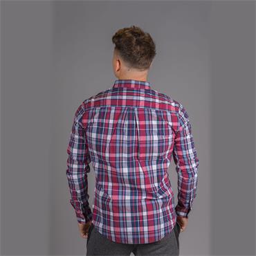 Washbasket Shirt - Ruby Navy Check