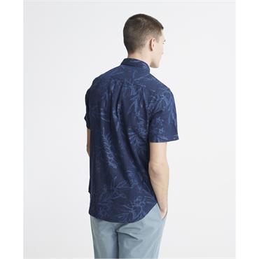 Superdry Miami Loom S/S Shirt - Miami Tropical Indigo