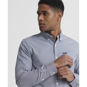 Superdry Classic London Shirr - Manor Gingham Navy
