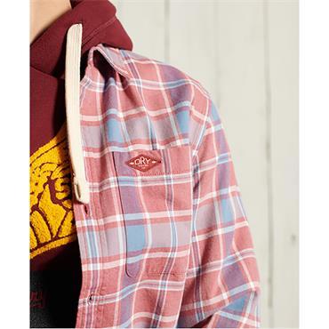 Superdry Sunfaded Lumberjack Shirt - Blush Red Check