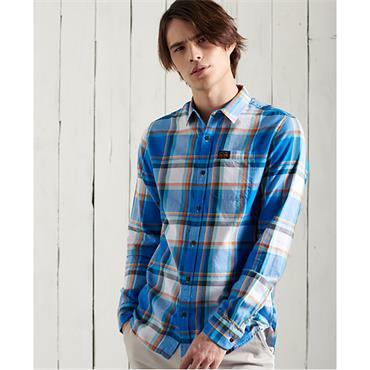 Superdry Workwear Lite Shirt - Chambray Blue Check
