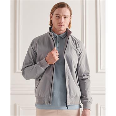 Superdry Iconic Harrington Jacket - Flat Grey
