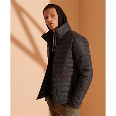 Superdry Non Hooded Fuji Jacket - Charcoal Herringbone