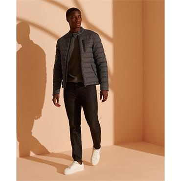 Superdry Commuter Quilted Jacket - Dark Charcoal Tweed