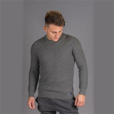 Academy Textured Crew - Dark Charcoal