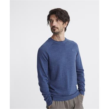 Superdry Cotton Crew - Adriatic Blue Grindle