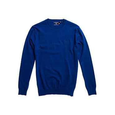 Superdry OL Crew Knit - Bright Marine Grindle