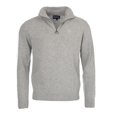 Barbour Lambswool 1/2 Zip - Grey