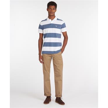 Barbour Harren Stripe Polo - Blue