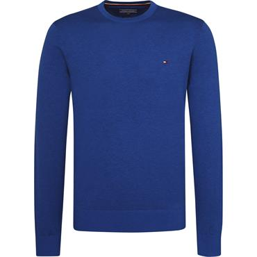 Cotton Silk Crew Neck - Mazarine Blue Heather