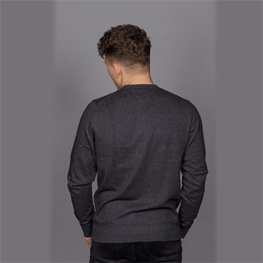 Pima Cotton Cashmere Cneck - Charcoal