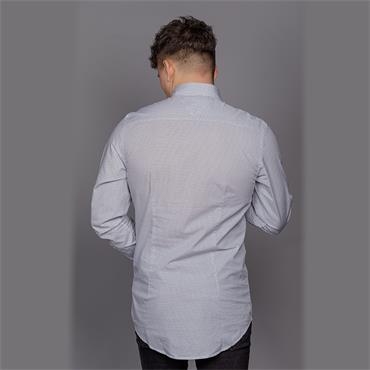 Slim Essential Micro Dot Shirt - 905 Sky Captain/multi