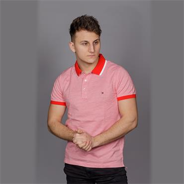 JACQUARD STRUCTURED SLIM POLO - 670