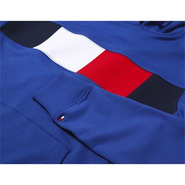 Flag Chest Insert Hoody - 439 Blue Quartz