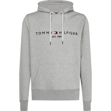 Tommy Logo Hoody - Cloud Htr