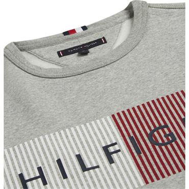 Hilfiger Logo Sweatshirt - Cloud Htr