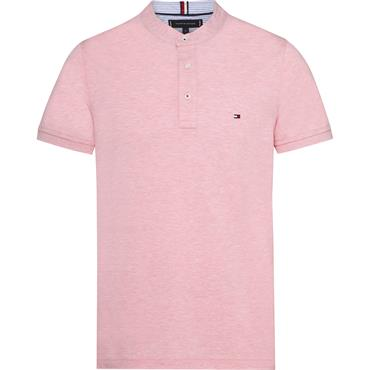 Tommy Heather Mao Slim Polo - 670 Coral Blush Heather