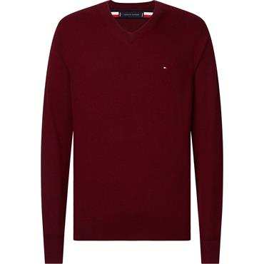 Tommy Hilfiger Luxury Touch V-Neck - Burgundy