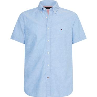 SLIM COTTON LINEN SH, C7H - Blue Ink