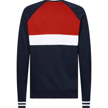 Colour Block Sweat - Navy