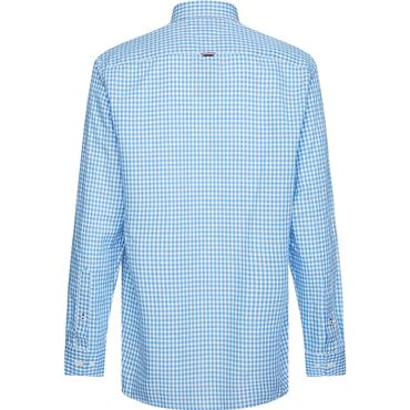Tommy Hilfiger Linen Shirt - Copenhagen Blue/white