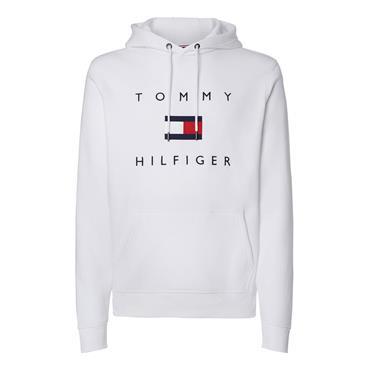 Tommy Hilfiger Flag Heather Hood - White