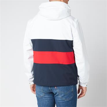 Tommy Hilfiger Colourblock Hooded Jacket - White