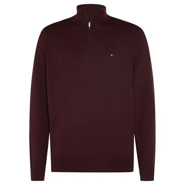 Tommy Hilfiger 1/2 Zip - TAWNY PORT HEATHER