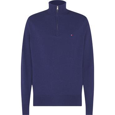 Th 1/4 Zip Wool - Indigo Blue Heather