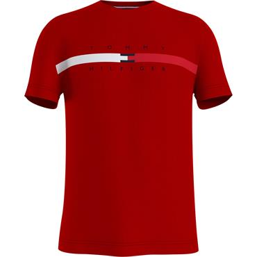 Tommy Hilfiger Global Stripe Chest T - RED