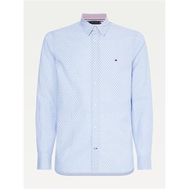 Tommy Hilfiger Slim Dotted Square Print - Blue