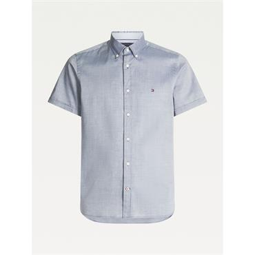 Tommy Hilfiger SLIM TRAVEL OXFORD S/S Sh - Carbon Navy