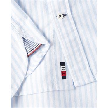 Tommy Hilfiger Stripe Oxford Shirt - Navy