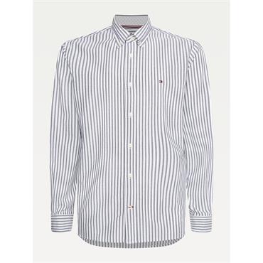 Tommy Hilfiger Stripe Oxford Shirt - Calm Blue/white