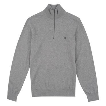 Supima Cotton 1/4 Zip - Rain Heather