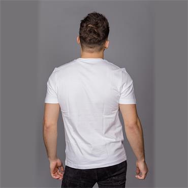 S/S PRINTED STAMP LO - Bright White