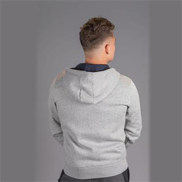 CAMO TRIM HOODED ZIP - Rain Heather