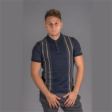 Vertical Stripe Polo - Saphire