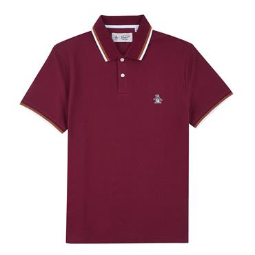 S/s Sticker Pete Pique Polo - Tawny Port