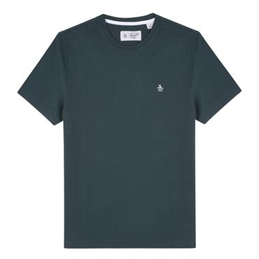 S/s Pin Point Embroidery - Darkest Spruce