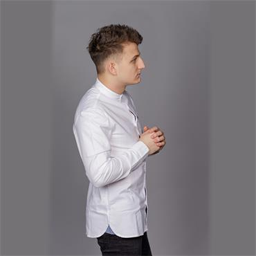 Grandad Collar Oxford Shirt, Bright White - Penguin