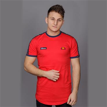 Fede Taped T-Shirt, Red - Ellesse