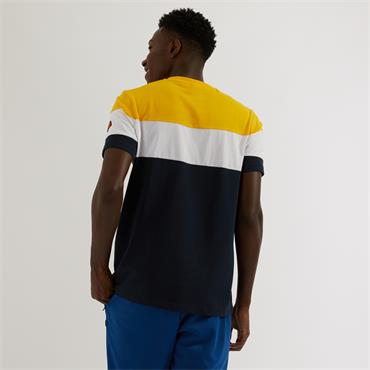 Punto Tee - Navy Yellow