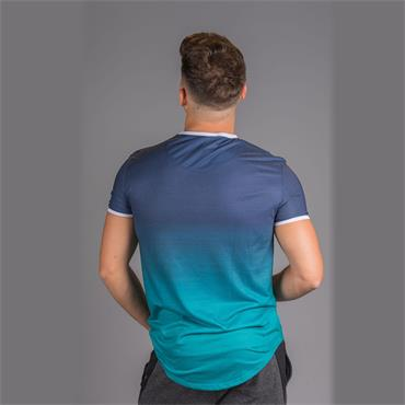Siksilk S/s Contrast Poly Fade Gym Tee - NAVY