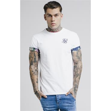 Rolled Sleeve T - WHITE